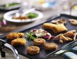 Gourmet vegetarisch menu pannetjes_