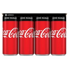 Coca Cola zero blik 8x250ml