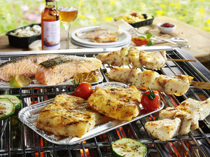 Barbecue vis menu