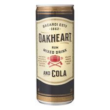 Bacardi Oakheart Cola 250ml