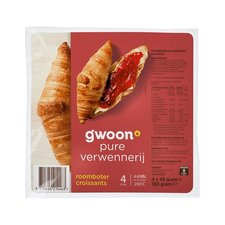 Gwoon Roomboter Croissant x4 180gr
