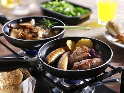 Mixed Gourmet menu (Halal) met pannetjes